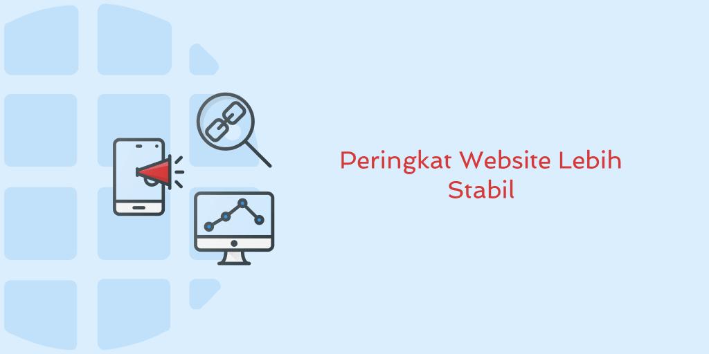 Peringkat Website Lebih Stabil